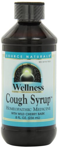 Source Naturals Wellness Cough Syrup with Wild Cherry Bark, Relieves Symptoms of Coughs Due to Colds and Flu, 8 Fluid Ounces ()