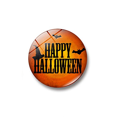 OTTATAT Wall Stickers for Kids 2019,Witch Pumpkin Bat Glass Glue Sign Pattern Dome Glass Fridge Magnet Easy to Peel Birthday Party Gift for Girlfriends Free Post Clearance]()