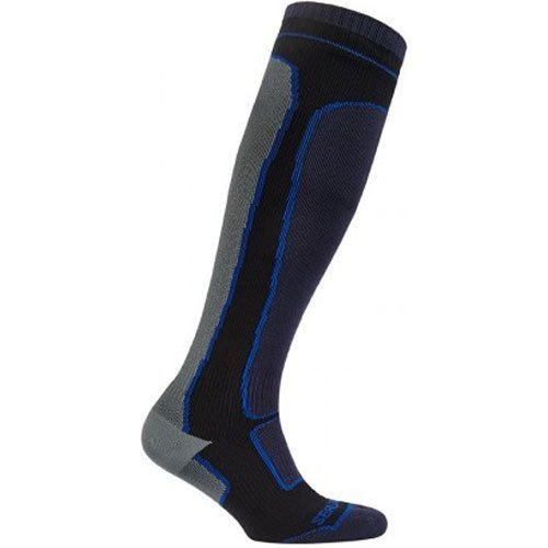 Sealskinz Men's Midweight Knee Length Waterproof Socks Gray/Black, Gray/Black, L by SEALSKINZ