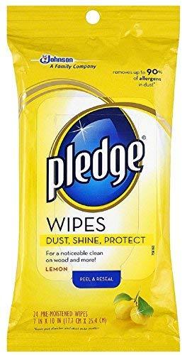 Pledge Lemon Clean Pre-Moistened Wipes 24 ea (Pack of 11)