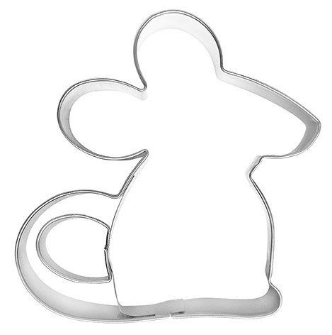 Uitsteekvorm muis, 8 cm, roestvrij staal