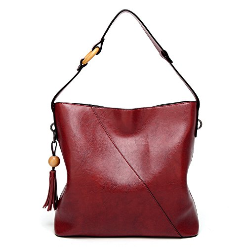 Red1 Lady Top Obosoyo Handbags Bag Satchel Women Shoulder Wine Hobo Messenger Handle Tote Purse wwX1OqxU
