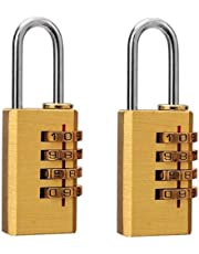 Guilty Gadgets 2 Pack x 25mm BRASS RESETTABLE COMBINATION PA
