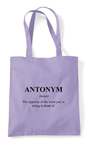 Shopper Lavender Bag Tote Funny Dictionary Antonym Alternative The Definition Not In vU6qxzw