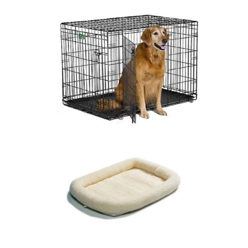42-Inch Double Door iCrate with Fleece Bed