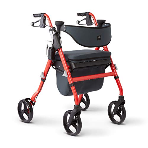Medline Premium Empower Rollator Walker with Seat, Comfort H