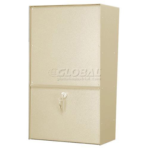 (Jayco LLAVRW Wall Mount Vertical Rear Access Aluminum Letter Locker Mailbox Tan )