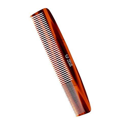 ZEUS 7.5″ Saw-Cut Handmade 2-in-1 Beard & Mustache Comb, Traditional