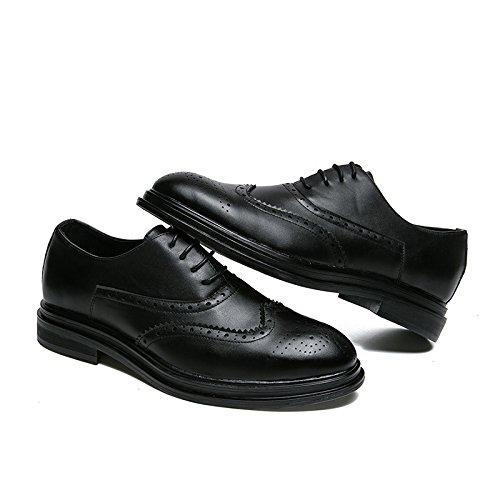 A Black in Pelle Morbido Stagione Sandali Nastro Tondo Stivali Tela Sportivi Punta Uomo Casual Scarpe Affari Colore WaHx0Hgq