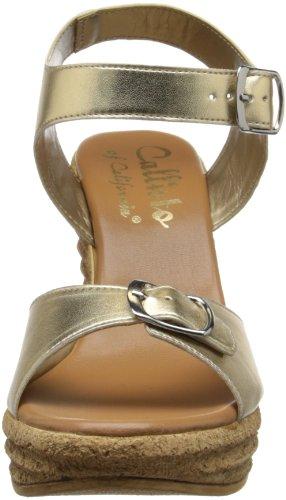 Callisto Femmes Targa Wedge Sandale Dor