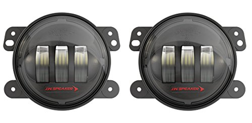 Edition Black Bezel - JW Speaker LED Jeep Fog Lights, Model 6145 J2 Series with Black Bezel, Set of 2
