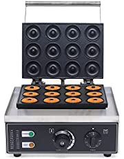 DAIYUDEYZ Commerciële Donut Maker Machine, 110V-220V 1500W 12 Hole Non-stick Donut Baker Machine voor Keuken Ontbijt Snack Dessert
