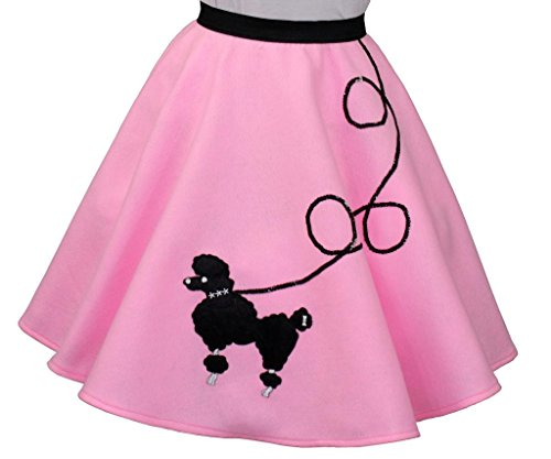 3 BIG NOTES - Children FELT Poodle Skirt Size Medium (Waist: 21