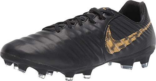 e0f4d8db8 Nike Men s Tiempo Legend 7 Pro CA FG-Black Metallic Vivid Gold (6.5)