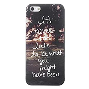 LZX It's Never Too Late Design Aluminium Hard Case for iPhone 5/5S