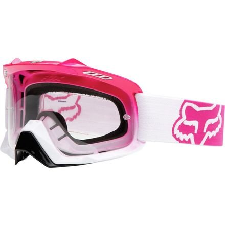 Fox Racing AIRSPC Goggle - Pink-White Fade/Clear Lens by Fox Racing