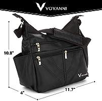 f50e5831caba Voyanni Crossbody Bag For Women Nylon Multi Pocket Travel Purse ...