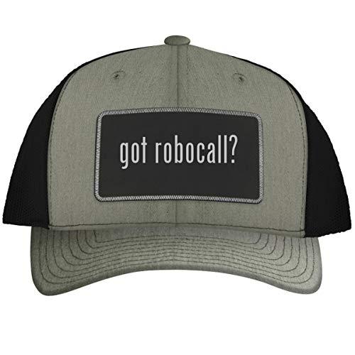 got Robocall? - Leather Black Metallic Patch Engraved Trucker Hat, HeatherBlack, One Size (Best Robocall Blocker App)
