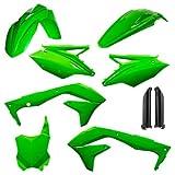 Acerbis Full Plastic Kit Fluorescent Green for Kawasaki KX450F 2016-2017