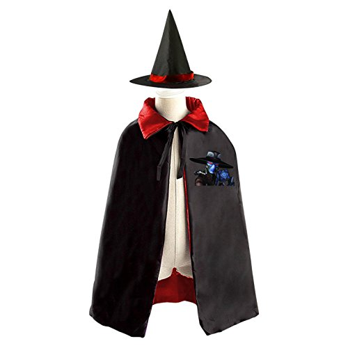 Mystical Sorceress Costume (Scary Monster Halloween Costume Wizard Witch Children Cloak Cosplay Cape Hat)