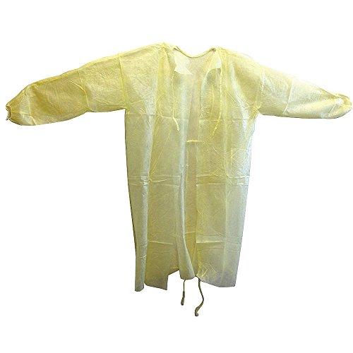 HCS - HCS3004 - Gown, Yellow, 45inLx57-1/2inW, PK50 by HCS (Image #1)
