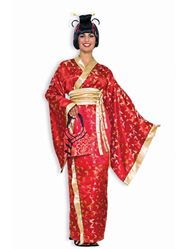 Forum Novelties Madame Butterfly Geisha Costume, Red, Standard