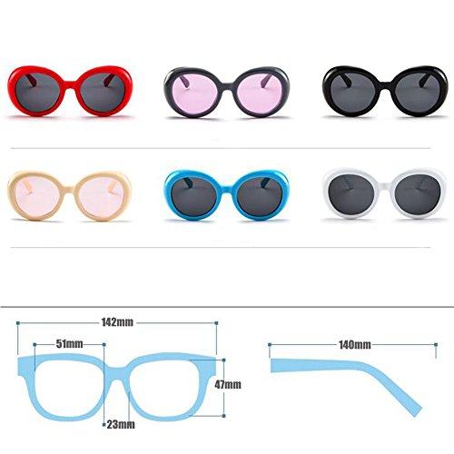 Gafas grueso Gris del Mod sol moda Style ovaladas de marco retro de Inlefen Morado redondas Gafas adOxfwOq