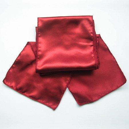 "OurWarm 50pcs Satin Chair Sash 6""x108"" Bow Wedding Party Event Banquet Decor Favor (Dark Red / Crimson)"