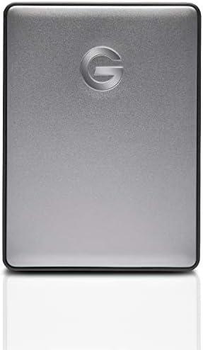 G-Technology 5TB G-DRIVE Mobile USB-C (USB 3.1 Gen 1) Portable External Hard Drive, Space Gray – 0G10477-1