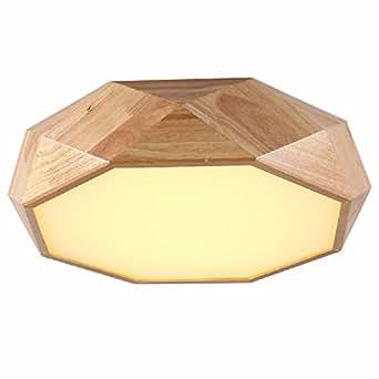 Nordic lamparas de techo, madera maciza LED luces de la ...