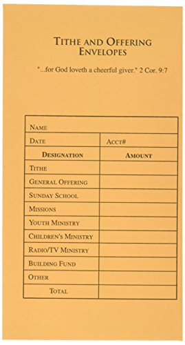Offering Envelope-Tithe & Offering (100 Pack) (Offering Envelopes For Church)