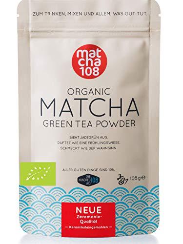 matcha108-프리미엄 품질 (식용 등급) 108 g (유기농) 에코 농장에서 직접 유기농 말 차