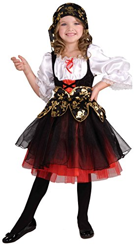Forum Novelties Girl's Lil' Pirate's Treasure Child Costume, Large