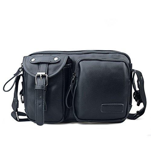 Al aire libre Peak Casual sintética de viaje para hombre hombro Bolsos Messenger Bag Negro negro negro negro