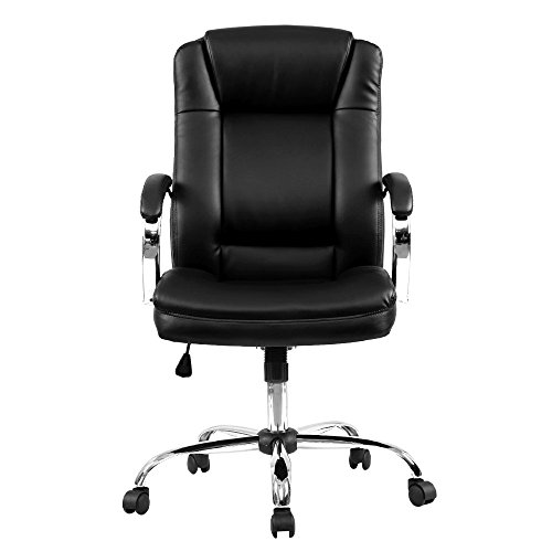 Patronage Chair PU Leather High Back Ergonomic CEO Executive Adjustable Computer Desk Task