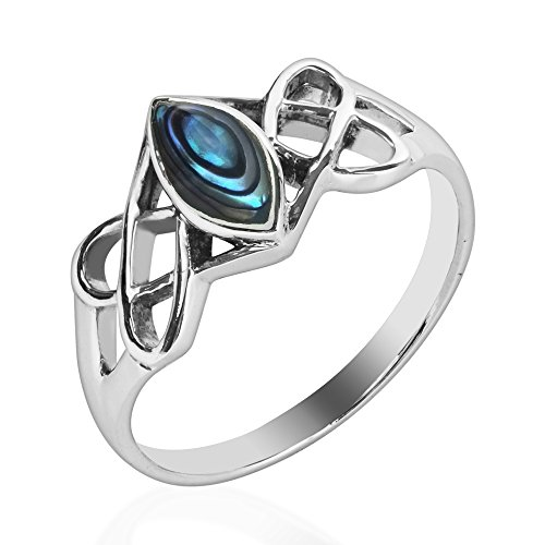 Celtic Trinity Knot Marquise Abalone She - Mens Sterling Silver Swirl Shopping Results