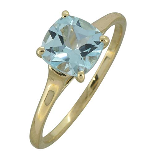 - YoTreasure 1.70 Ct. Sky Blue Topaz Solid 10K Yellow Gold Solitaire Ring