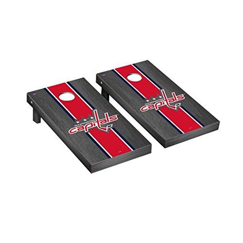 Victory Tailgate Washington Capitals Nhl Regulation Cornhole Game Set Onyx Stripe Version