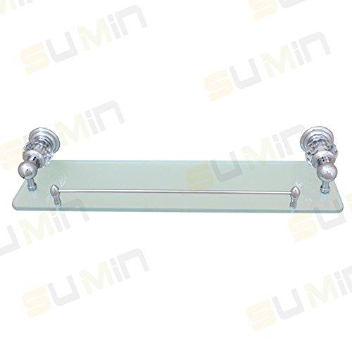 Sumin Home QC2213MC Modern Luxury Crystal Wall Mounted Wall Mounted Bathroom Glass Shelf, Chrome by Sumin Home (Image #3)