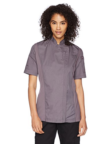 Chef Works Women's Springfield Chef Coat, Purple, X-Large