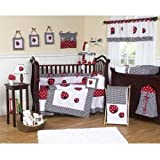 Sweet Jojo Designs 3-Piece Twin Sheet Set for Red and White Polka Dot Ladybug Bedding Collection