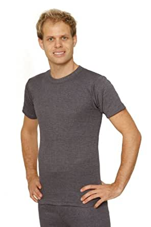 Octave 3 PACK Mens Thermal Underwear Short Sleeve T-Shirt/Vest / Top (3 Ex-Large, Charcoal)