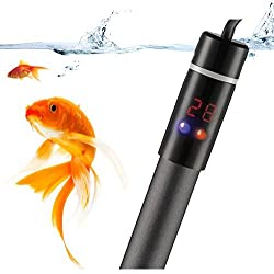 MWGears 500W Deluxe Submersible Aquarium Titanium Heater with Visible Temperature and Floating Thermometer