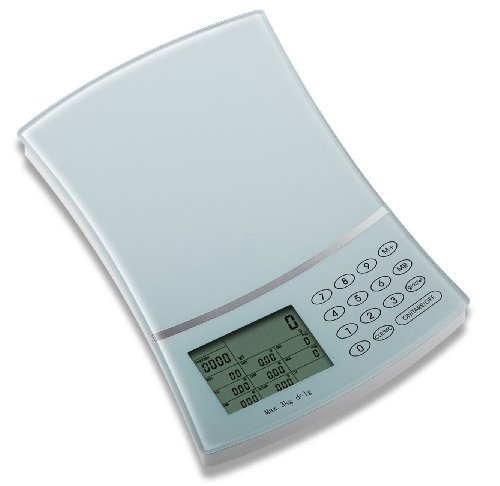 Newlineny SAD8182-WH Newline Digital Nutrition Diet Scale with GI Value, White
