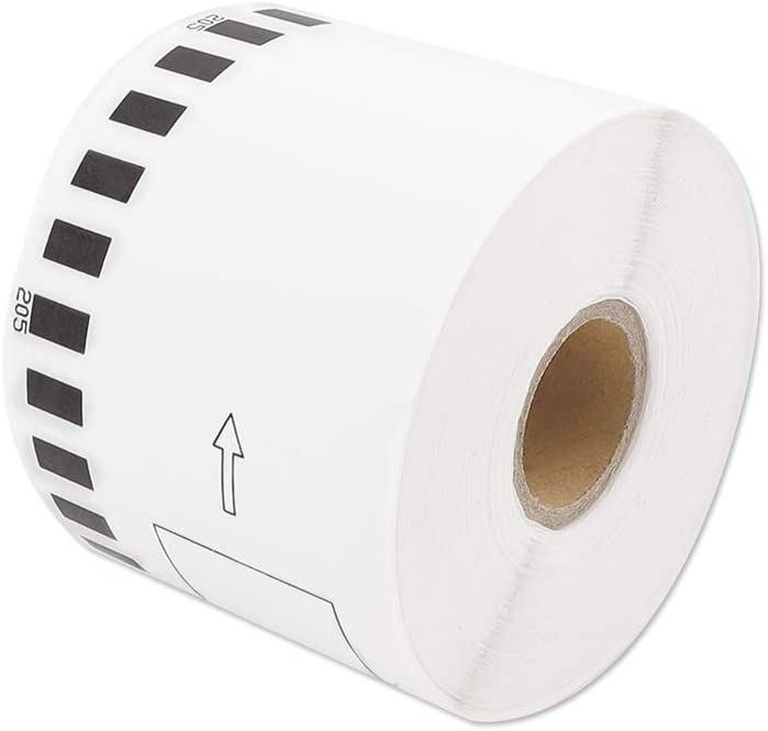 """Address Labels Compatible QL Labels Replacement for Brother DK-2205, 2-3/7""""x 100""""(62mm x 30.48m), Shipping Labels for Brother QL Laber QL800 QL810w QL500 QL570 QL710w Plus 1 Reusable Frame - 1 Roll : Electronics"""