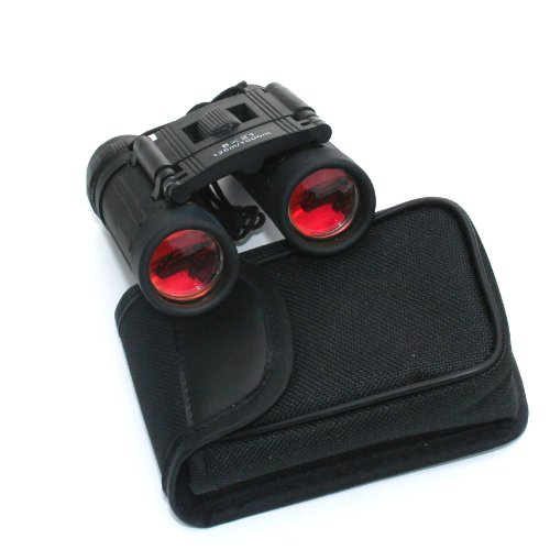Lucky Bums Youth Kids 10x25 Objective Power Lens Scout Bino Compact Binoculars, (Scout Black Watch)