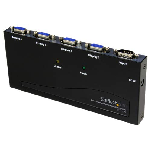 4 Port 350 MHz VGA Splitter STARTECH.COM ST124PRO