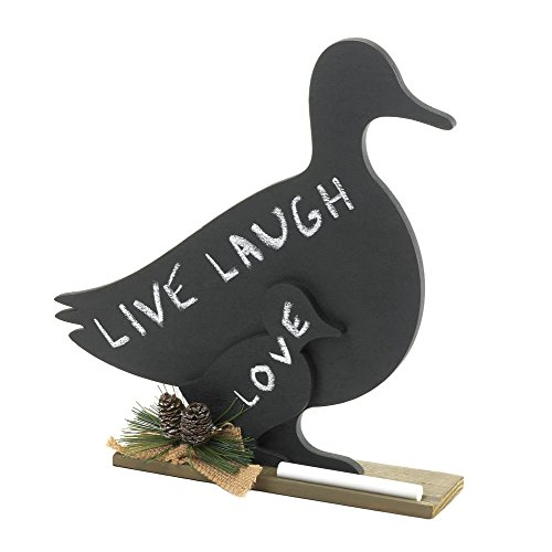 (MyEasyShopping Duck Family Message Board, 1 - Duck Family Message Board, Message Board Duck Family Chalk New Home Fun Accent Communications Memo Stand Black Kitchen Decor)