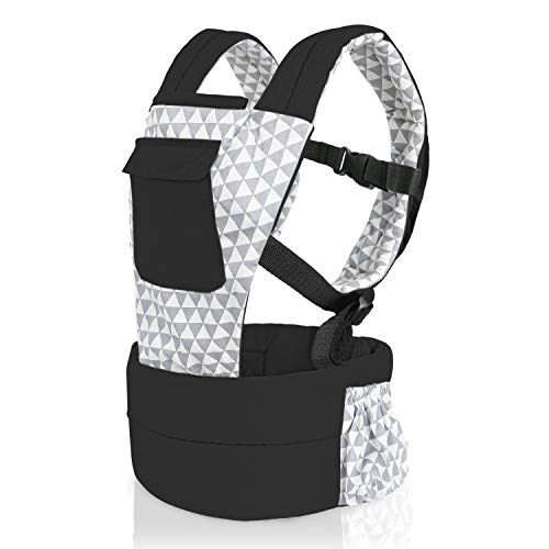 Vollence Baby Doll Carrier Front and Back Backpack Doll Carrier for 14 to 25 inch Dolls - Black