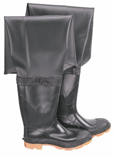 ONGUARD 86056 PVC/Polyester Men's Plain Toe Hip Wader with Cleated Outsole, 32